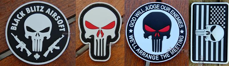 Punisher – Morale Patches z symbolem czaszki